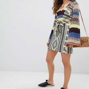 NWOT Free People Patchwork Sweater Dress